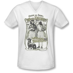Up In Smoke - Mens Labrador V-Neck T-Shirt