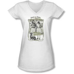 Up In Smoke - Juniors Labrador V-Neck T-Shirt