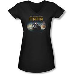 Tintin - Juniors Journey V-Neck T-Shirt