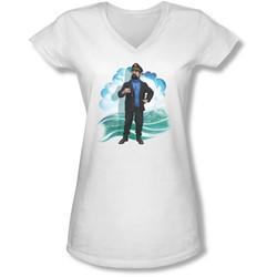 Tintin - Juniors Haddock V-Neck T-Shirt