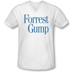 Forrest Gump - Mens Logo V-Neck T-Shirt