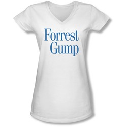 Forrest Gump - Juniors Logo V-Neck T-Shirt