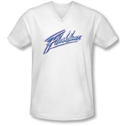 Flashdance - Mens Logo V-Neck T-Shirt