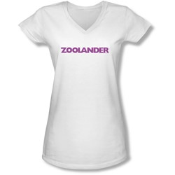 Zoolander - Juniors Logo V-Neck T-Shirt