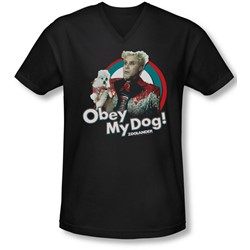 Zoolander - Mens Obey My Dog V-Neck T-Shirt