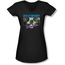 Galaxy Quest - Juniors Cute But Deadly V-Neck T-Shirt
