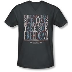 Braveheart - Mens Freedom V-Neck T-Shirt
