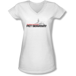 Pet Sematary - Juniors Logo V-Neck T-Shirt