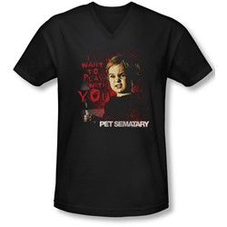 Pet Sematary - Mens I Want To Play V-Neck T-Shirt