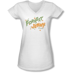 Forrest Gump - Juniors Peas And Carrots V-Neck T-Shirt