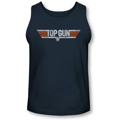 Top Gun - Mens Distressed Logo Tank-Top