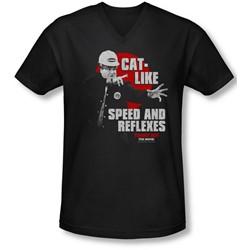 Tommy Boy - Mens Cat Like V-Neck T-Shirt