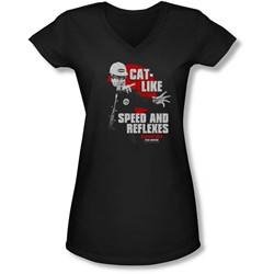 Tommy Boy - Juniors Cat Like V-Neck T-Shirt