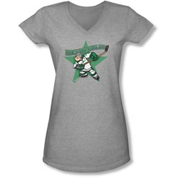 Popeye - Juniors Spinach Leafs V-Neck T-Shirt