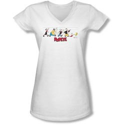 Popeye - Juniors The Usual Suspects V-Neck T-Shirt
