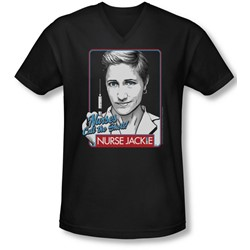 Nurse Jackie - Mens Nurses Call The Shots V-Neck T-Shirt
