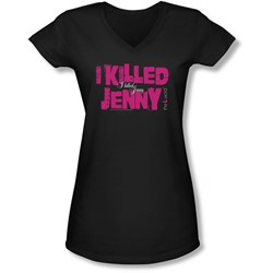 The L Word - Juniors I Killed Jenny V-Neck T-Shirt