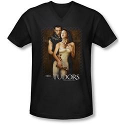 Tudors - Mens Spilt Wine V-Neck T-Shirt