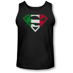 Superman - Mens Italian Shield Tank-Top