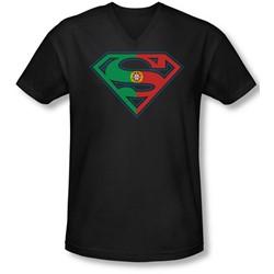 Superman - Mens Portugal Shield V-Neck T-Shirt
