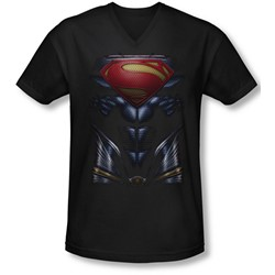 Man Of Steel - Mens Mos Costume V-Neck T-Shirt