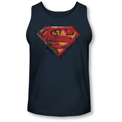 Superman - Mens Rusted Shield Tank-Top