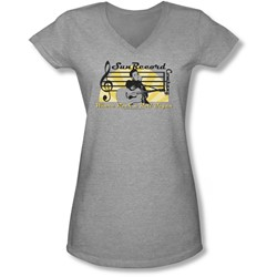 Sun - Juniors Sun Record Company V-Neck T-Shirt
