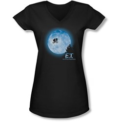 Et - Juniors Moon Scene V-Neck T-Shirt