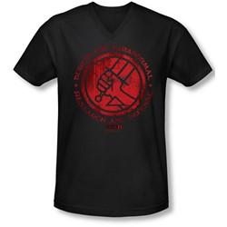 Hellboy Ii - Mens Bprd Logo V-Neck T-Shirt