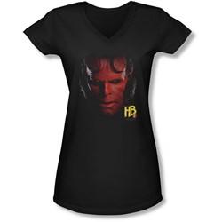 Hellboy Ii - Juniors Hellboy Head V-Neck T-Shirt
