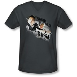 Hot Fuzz - Mens Punch That V-Neck T-Shirt