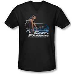 Fast & Furious - Mens Car Ride V-Neck T-Shirt