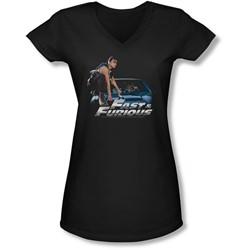 Fast & Furious - Juniors Car Ride V-Neck T-Shirt