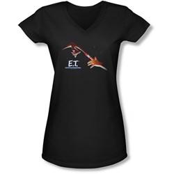 Et - Juniors Poster V-Neck T-Shirt