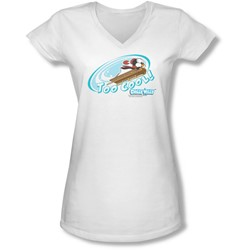 Chilly Willy - Juniors Too Cool V-Neck T-Shirt