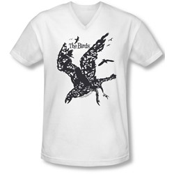Birds - Mens Title V-Neck T-Shirt