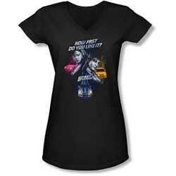 2 Fast 2 Furious - Juniors Fast Women V-Neck T-Shirt