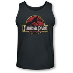 Jurassic Park - Mens Stone Logo Tank-Top