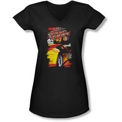 Tokyo Drift - Juniors Drifting Crew V-Neck T-Shirt
