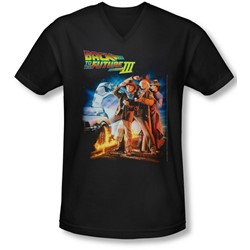 Back To The Future Iii - Mens Poster V-Neck T-Shirt