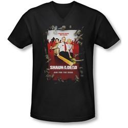 Shaun Of The Dead - Mens Poster V-Neck T-Shirt