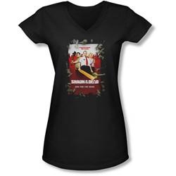 Shaun Of The Dead - Juniors Poster V-Neck T-Shirt