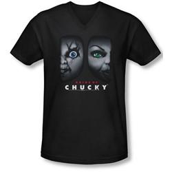 Bride Of Chucky - Mens Happy Couple V-Neck T-Shirt