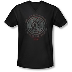 Hellboy Ii - Mens Bprd Stone V-Neck T-Shirt