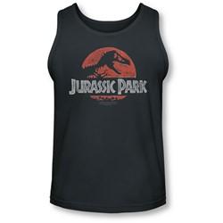 Jurassic Park - Mens Faded Logo Tank-Top