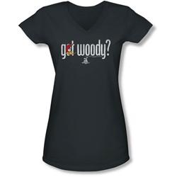Woody Woodpecker - Juniors Got Woody V-Neck T-Shirt