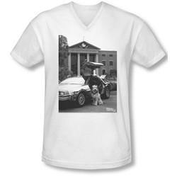 Back To The Future Ii - Mens Einstein V-Neck T-Shirt