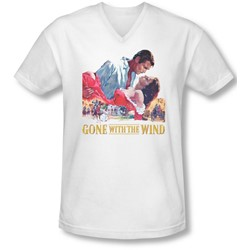 Gwtw - Mens On Fire V-Neck T-Shirt