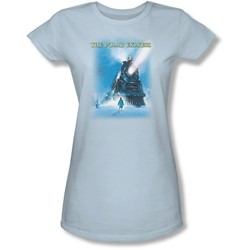 Polar Express - Juniors Big Train Sheer T-Shirt