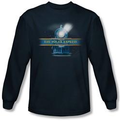 Polar Express - Mens Train Logo Longsleeve T-Shirt